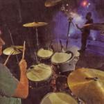 """Mit ihrem rein instrumentalen Auftritt brachte die Gruppe """"Without Voice"""" mit Jan Rimbach, Niklas Wenning, Marko Mertens und Daniel Pantekook die Aula des NIGE während der dritten """"Night of the Bands"""" zum Kochen."""