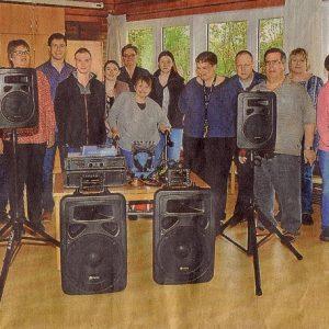 NIGE übergibt Soundanlage für das Erlebachhaus